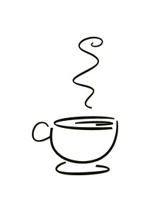 Brandmalkolben Vorlage: Kaffee