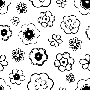 Brandmalerei Vorlage: Blumen