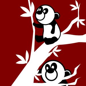 Brandmalerei Vorlage: Pandas